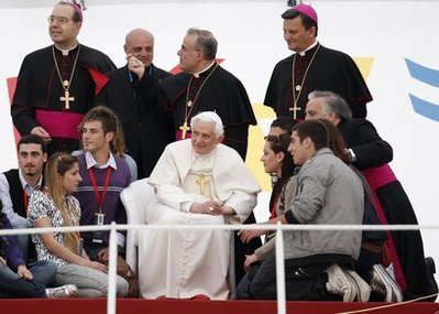 Pope benedict and youth